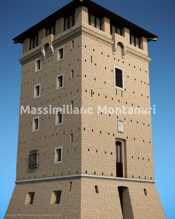 torre san michele cervia 3d
