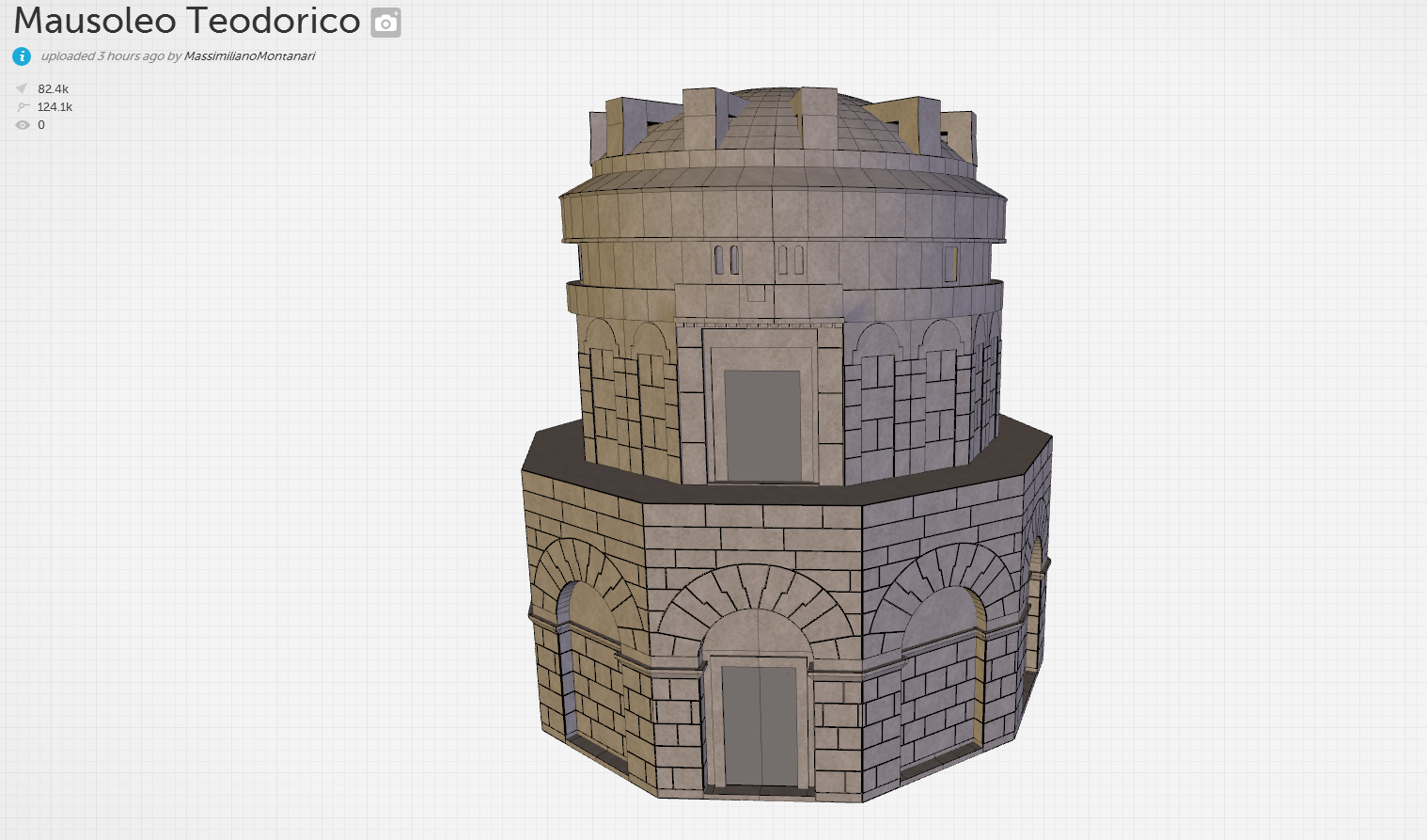 mausoleo teodorico 3d